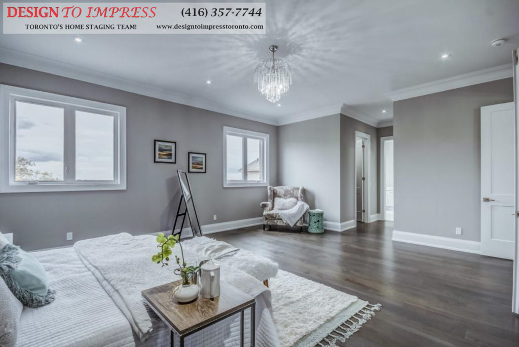 Master Bedroom, 1787 Spruce Hill, Pickering Home Staging