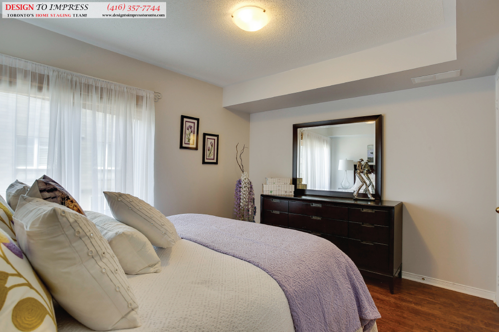 Master Bedroom, 41 Foundry, Toronto Home Staging