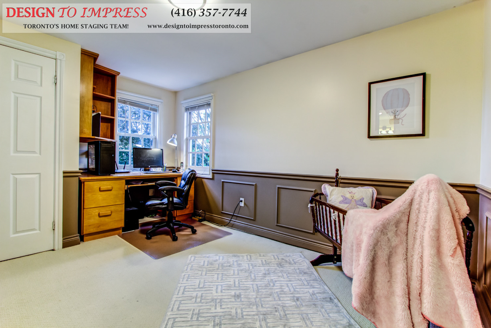 Office, 133 Huntington Park, Thornhill Home Staging