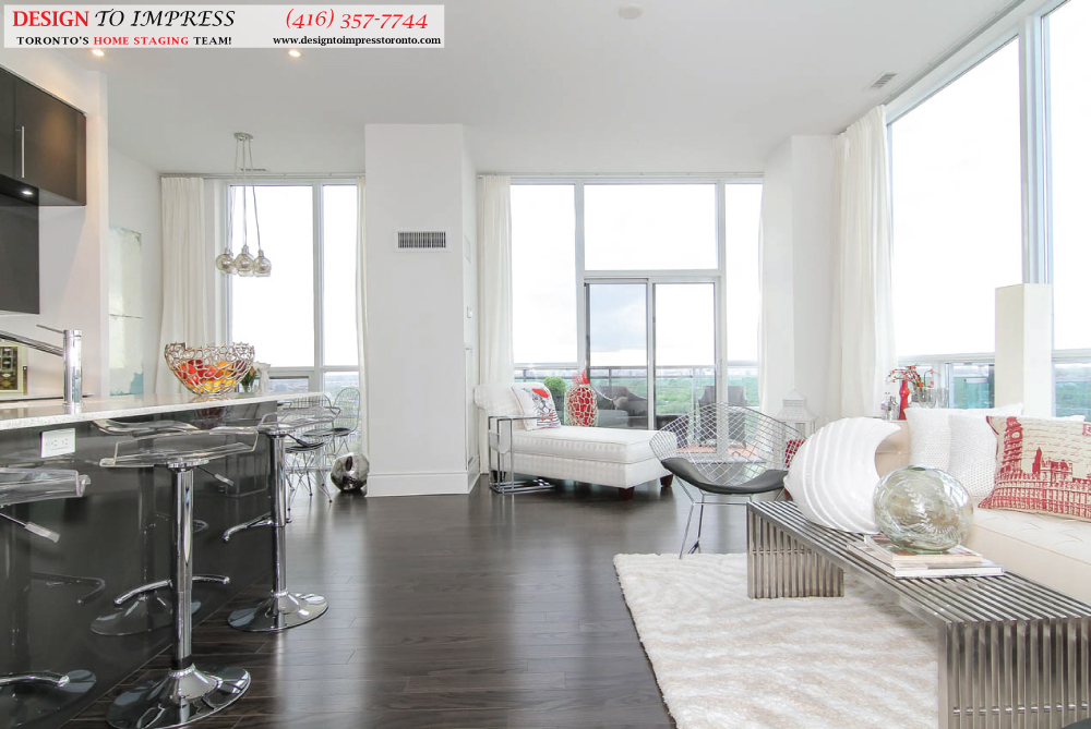 Open Concept, 16 Brookers Lane, Toronto Condo Staging