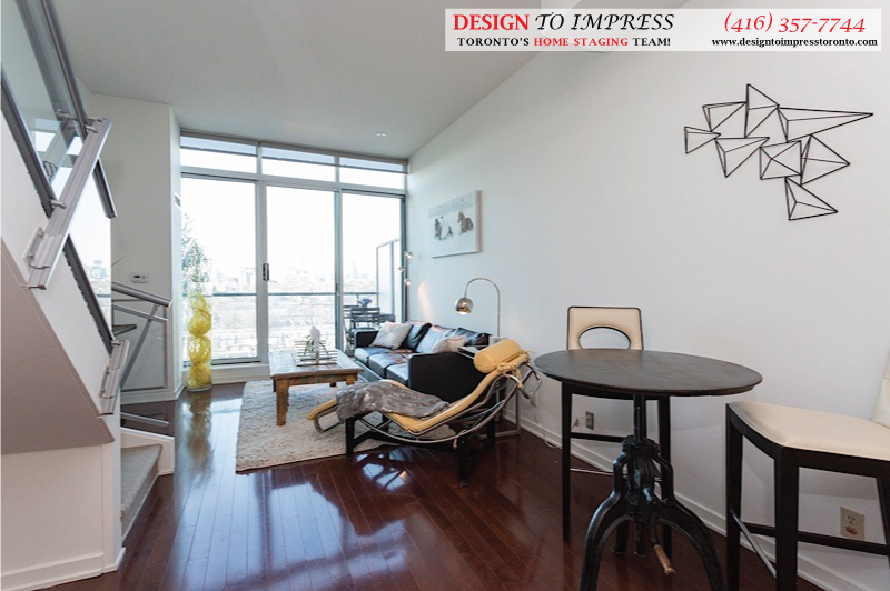 Open Concept, 388 Richmond, Toronto Condo Staging