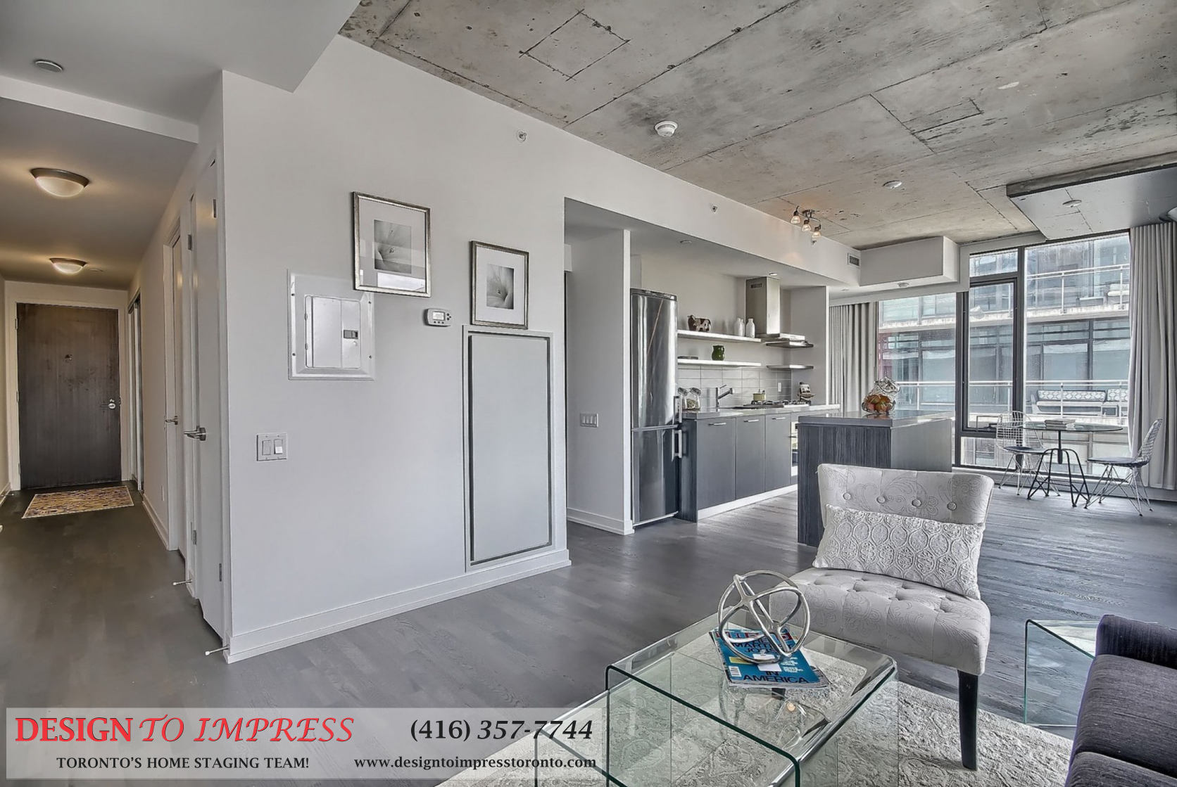 Open Concept, 560 King St. West, Toronto Condo Staging