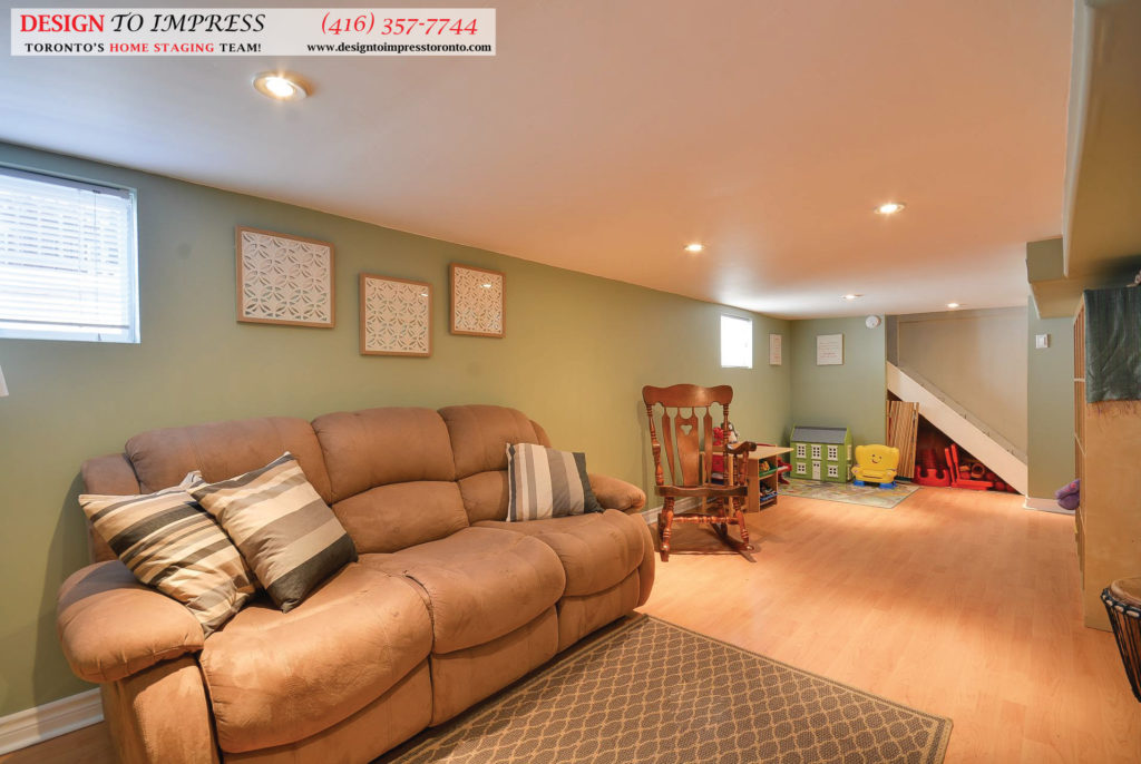 Open Concept Basement, 13 Eileen, Toronto Home Staging