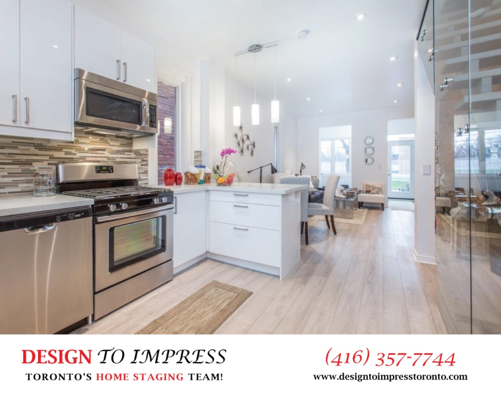 Open Concept Kitchen, 574 Manning, Toronto Home Staging
