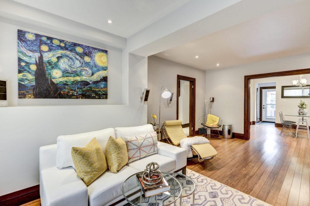 Open Concept Living Room, 50 Albert, Etobicoke Home Staging
