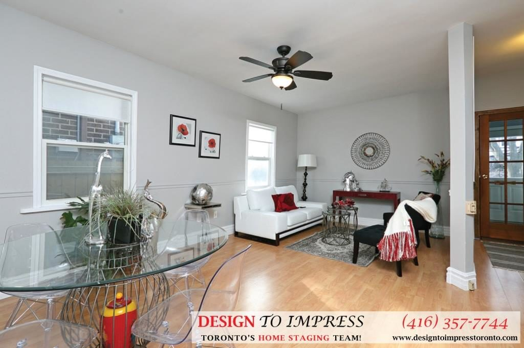 Open Concept Main Floor, 169 Rhodes, Toronto Home Staging