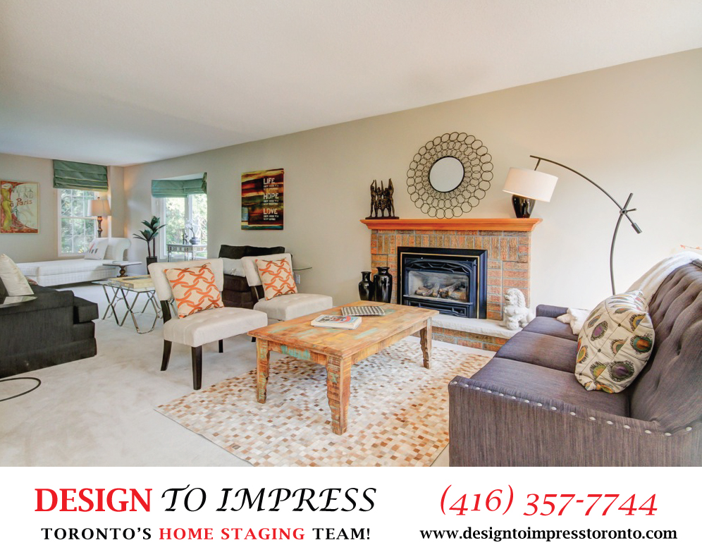 Open Concept Main Floor, 313 Green Lane, Thornhill Home Staging