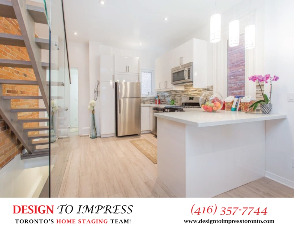 Open Kitchen South View, 574 Manning, Toronto Home Staging