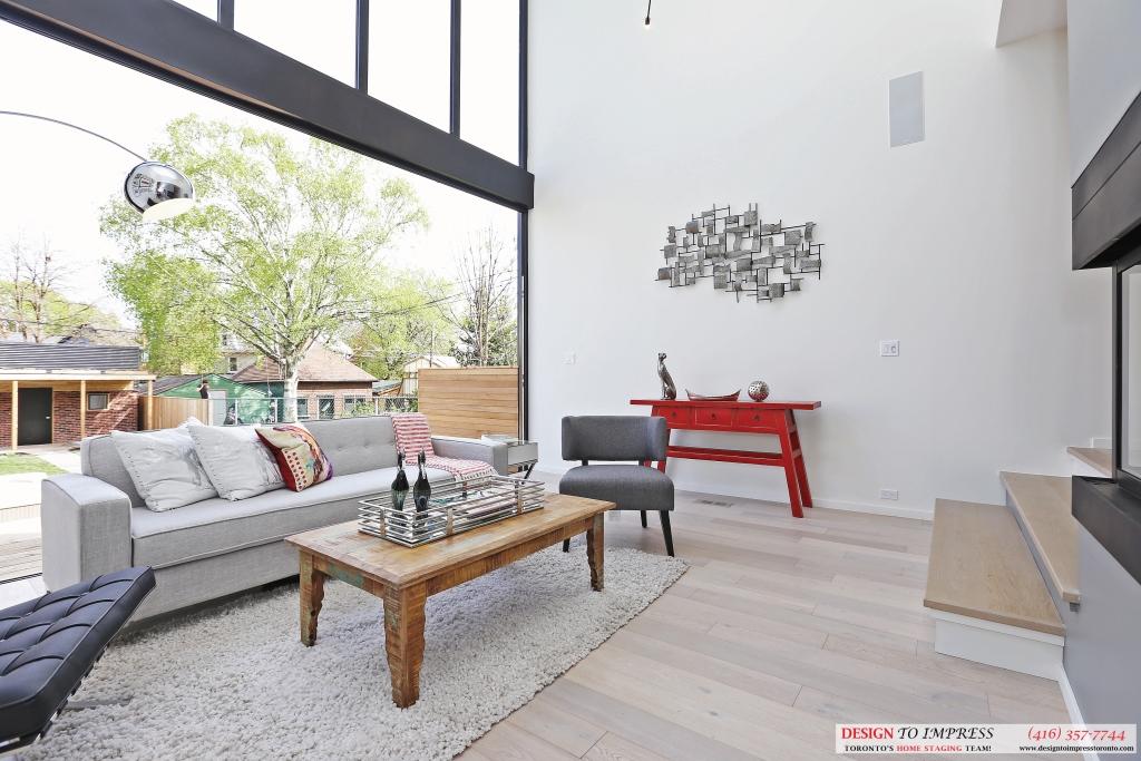 Open Window in Living Room, 75 Parkway, Toronto Home Staging