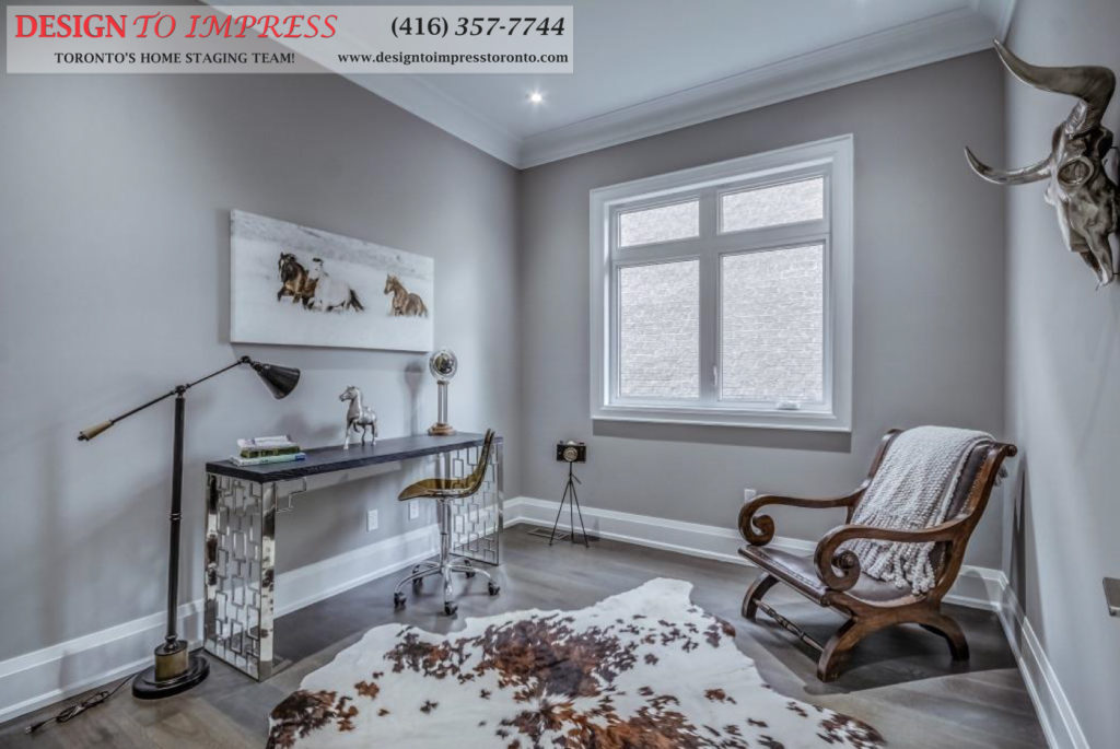 Reading Room, 1787 Spruce Hill, Pickering Home Staging