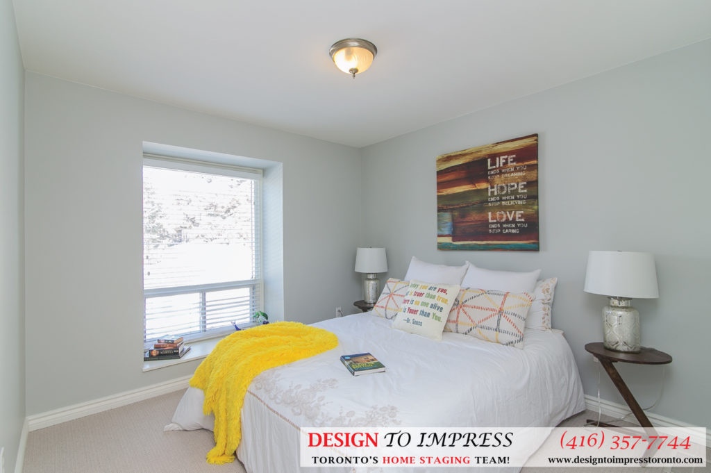 Second Bedroom, 230 Royal Orchard, Thornhill Home Staging