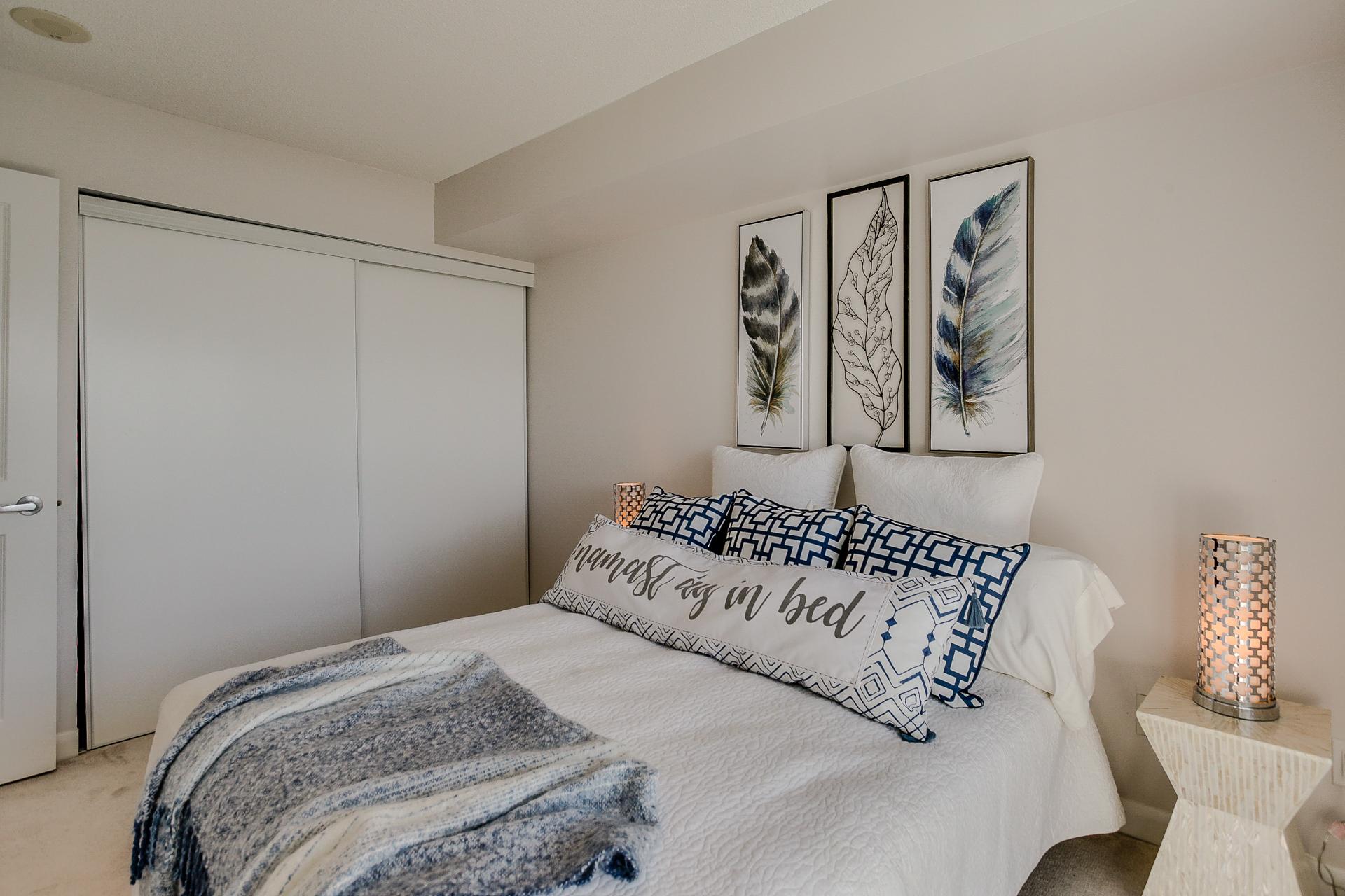 Second Bedroom Closet, 235 Sherway Gardens, Etobicoke Home Staging