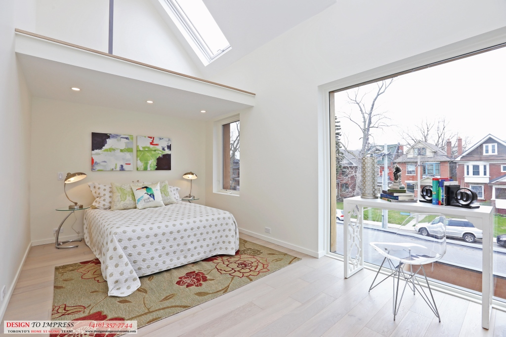 Second Bedroom Diagonal View, 75 Parkway, Toronto Home Staging