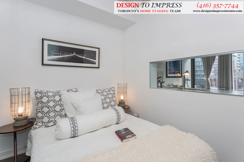 Second Bedroom, Fashion House, Toronto Condo Staging