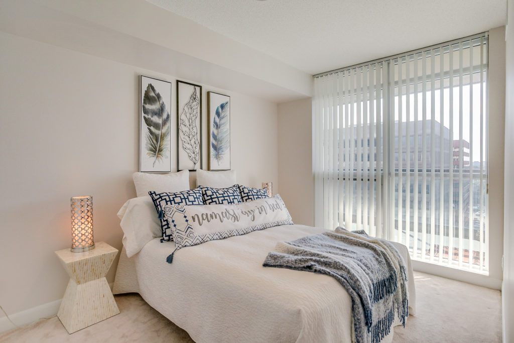 Second Bedroom Window, 235 Sherway Gardens, Etobicoke Home Staging