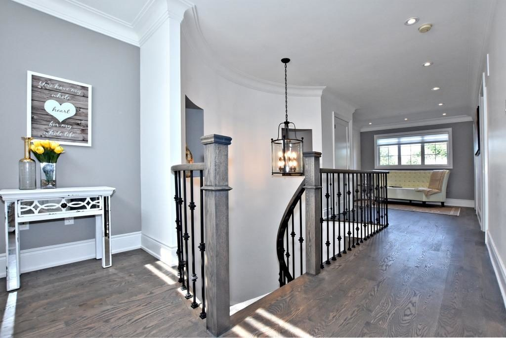 Second Floor Stairs, 91 Wheeler, East York Home Staging