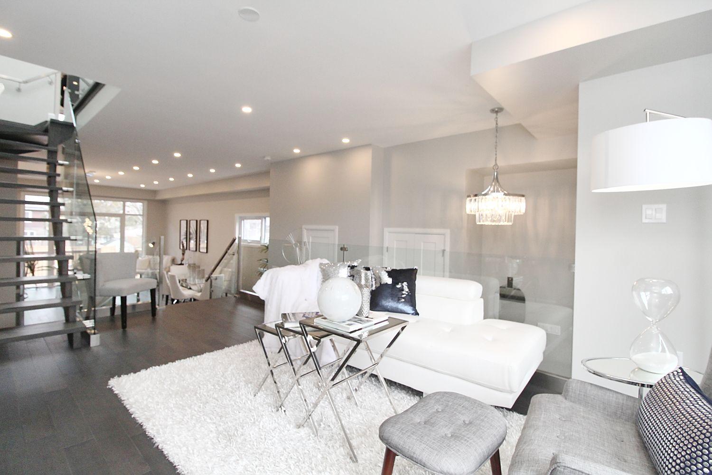 Sitting Area, 182 Oak Park, East York Home Staging