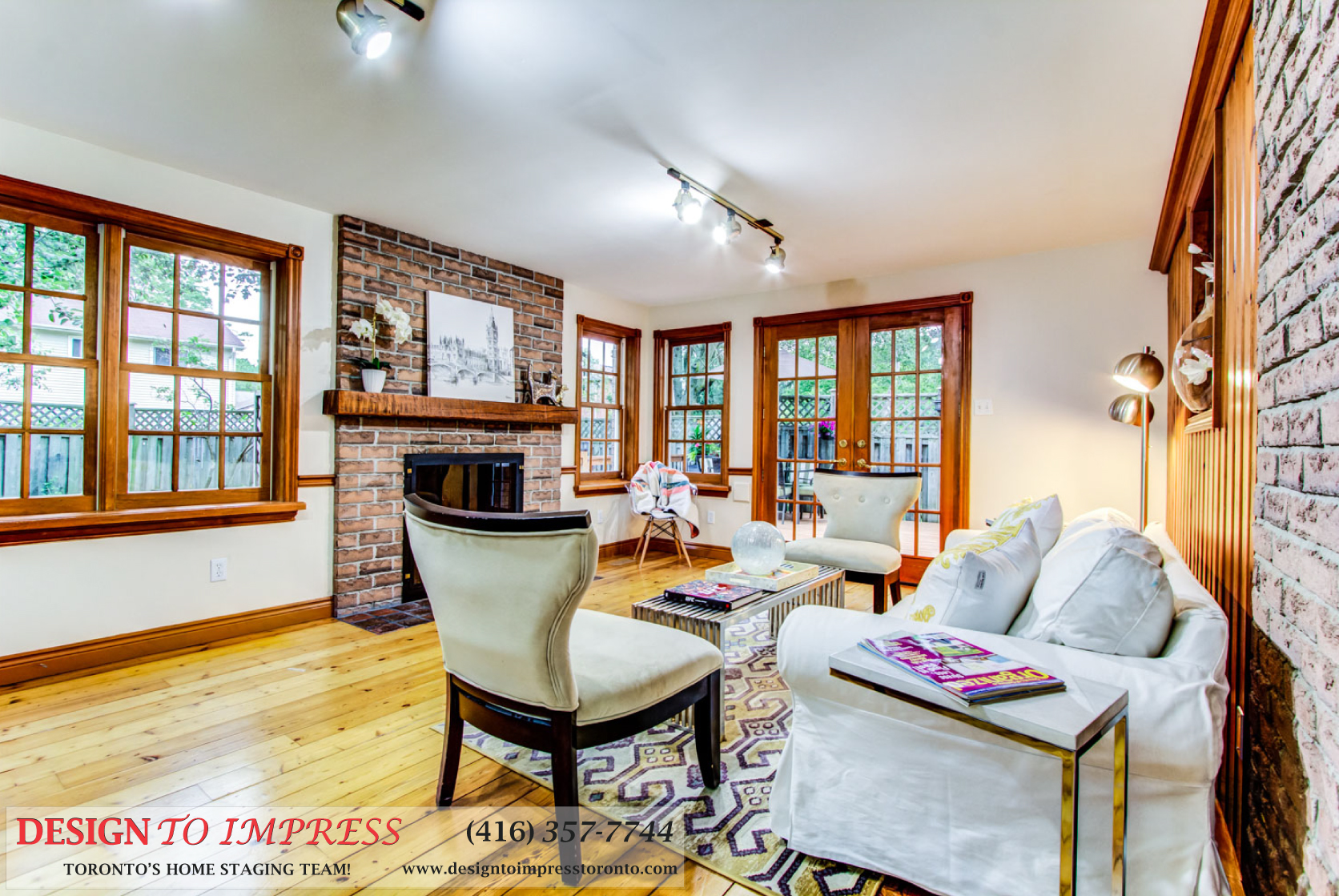 Sitting Room, 133 Huntington Park, Thornhill Home Staging