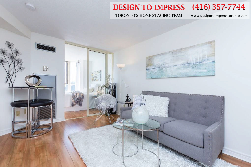 Sitting Room, 44 St. Joseph, Toronto Condo Staging