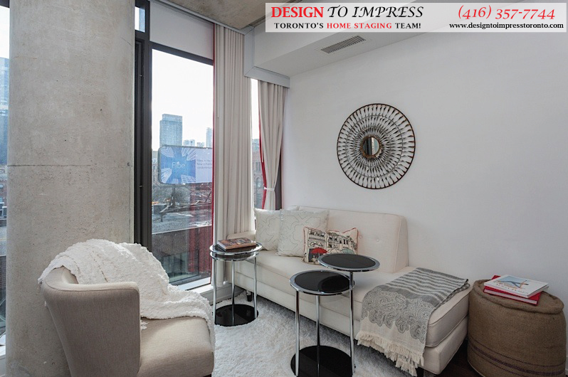 Sitting Room, Fashion House, Toronto Condo Staging