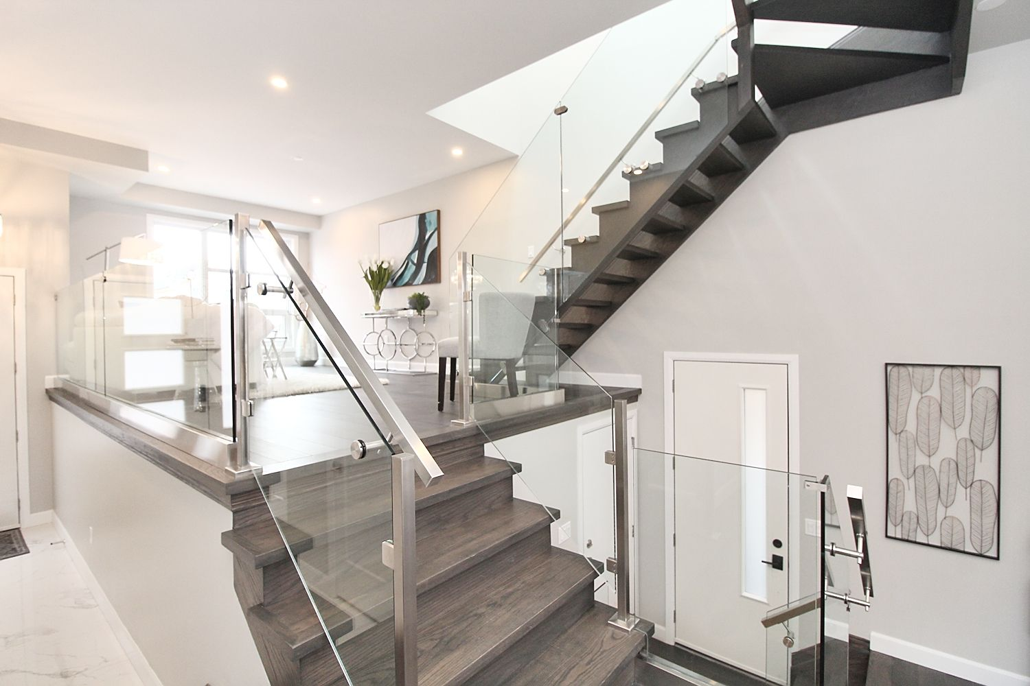Stairs, 182 Oak Park, East York Home Staging