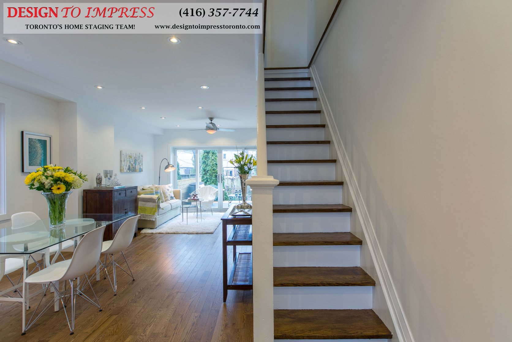 Stairs, 291 Springdale, Toronto Home Staging
