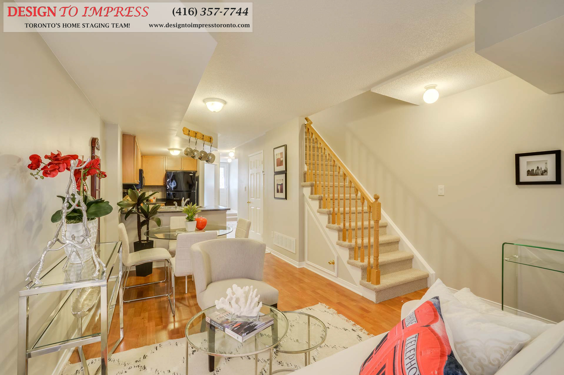 Stairway, 31 Foundry, Toronto Home Staging