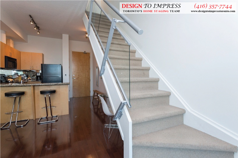 Stairway, 388 Richmond, Toronto Condo Staging