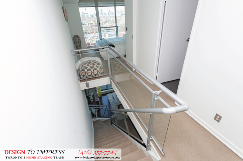 Stairwell View, 388 Richmond, Toronto Condo Staging