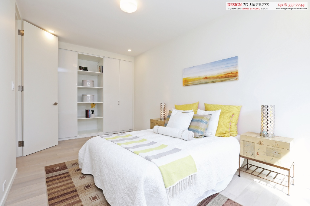 Third Bedroom Shelving, 75 Parkway, Toronto Home Staging