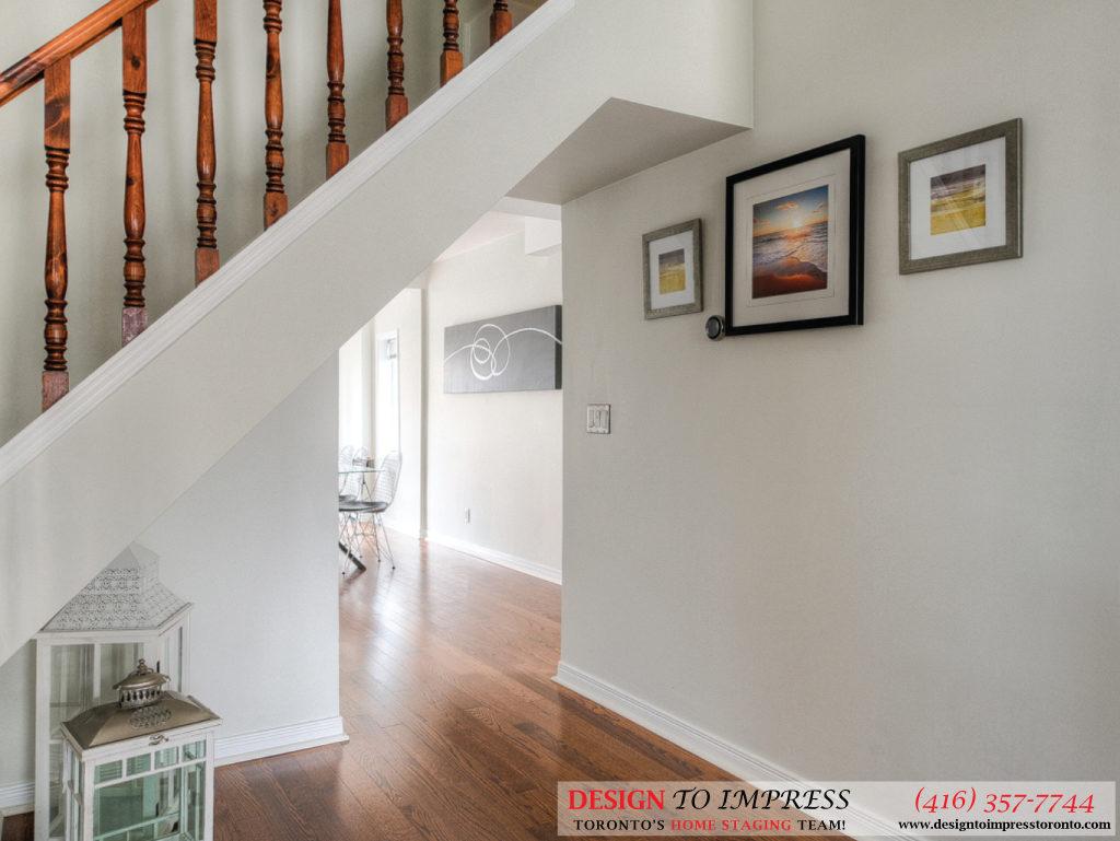 Under Stairwell, 160 Hillside, Toronto Home Staging