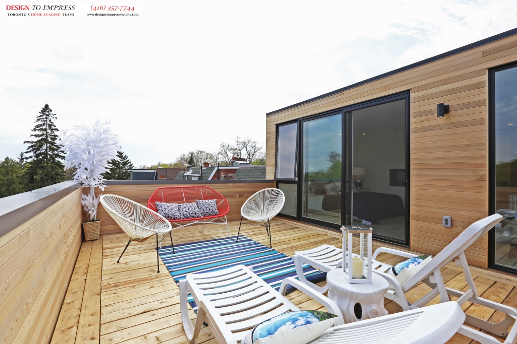 Upper Deck Patio, 75 Parkway, Toronto Home Staging