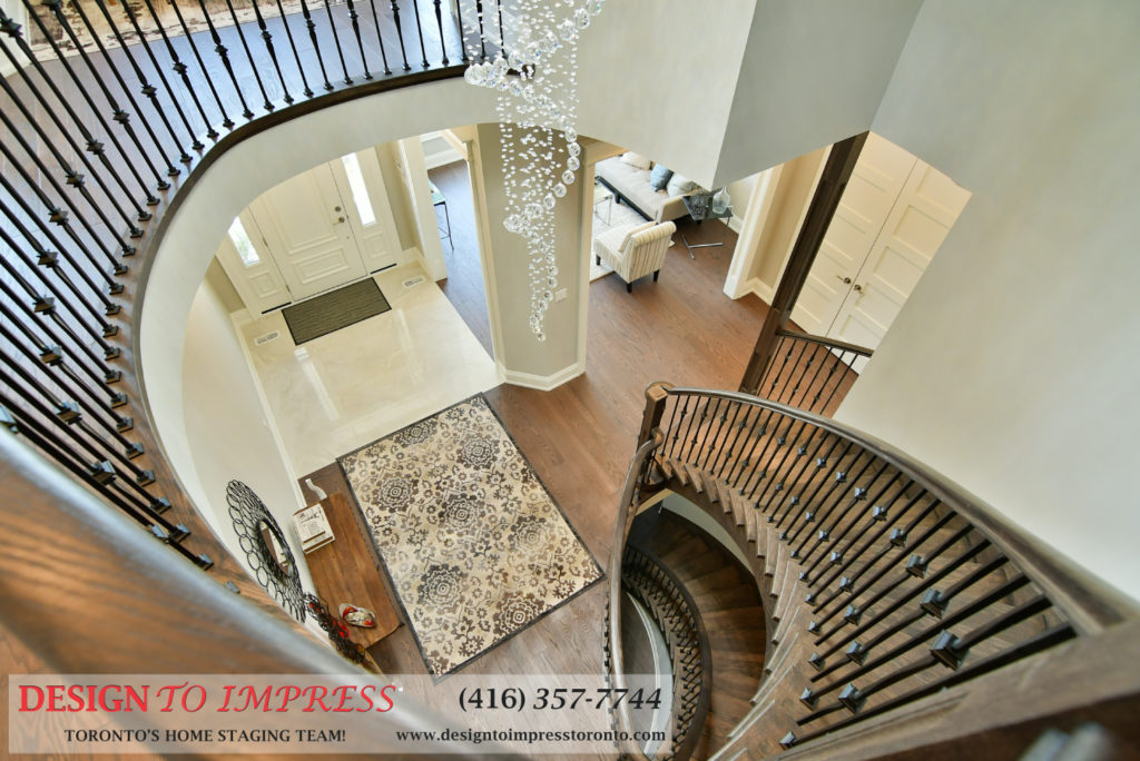 Upstairs Foyer, 1771 Rockwood, Pickering Home Staging