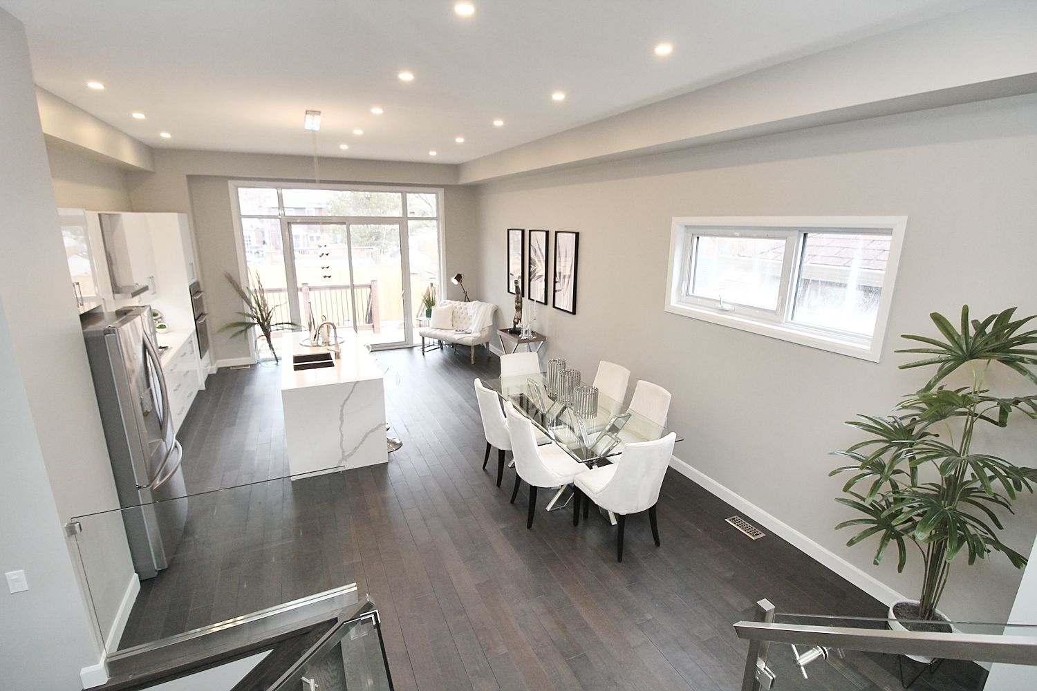 View From Stairs, 182 Oak Park, East York Home Staging