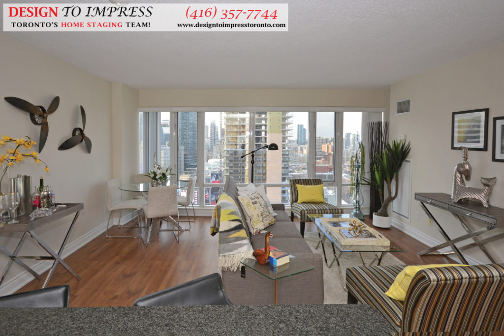 Wide Open Concept, 210 Victoria, Toronto Condo Staging