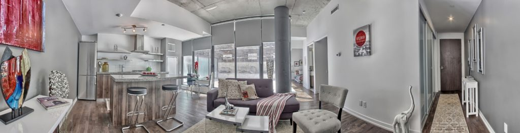 Widescreen View, 461 Adelaide, Toronto Condo Staging