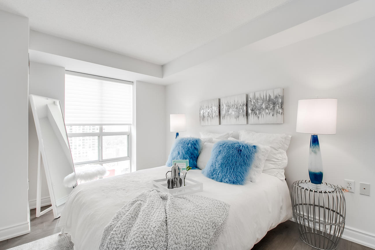 Bedroom, 20 Olive Ave, Toronto Condo Staging