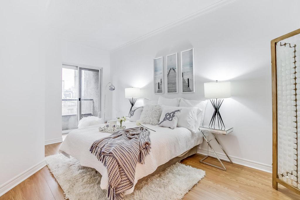 Bedroom, 55 Bloor, Toronto Condo Staging
