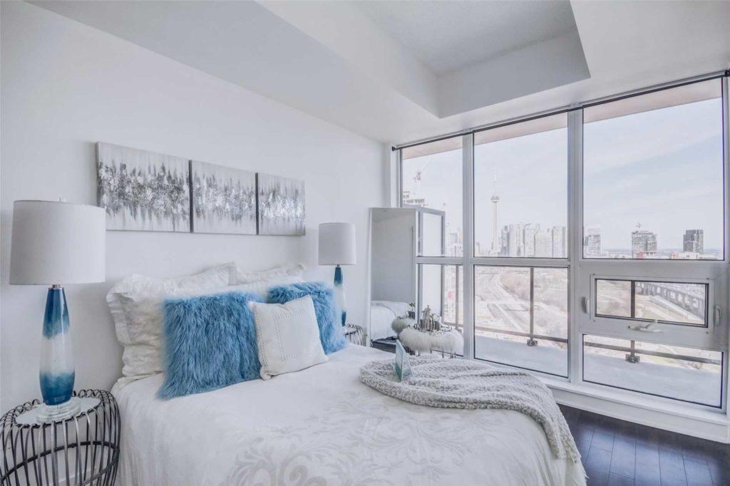 Bedroom Window, 51 East Liberty, Toronto Condo Staging