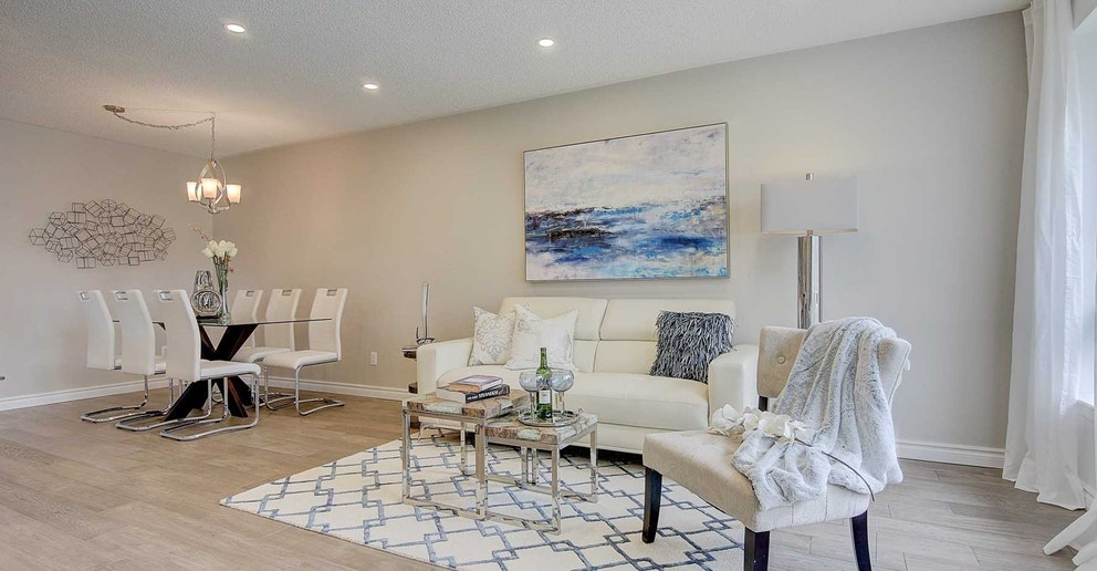 Dining and Living Room, 4 Lotus, North York Home Staging