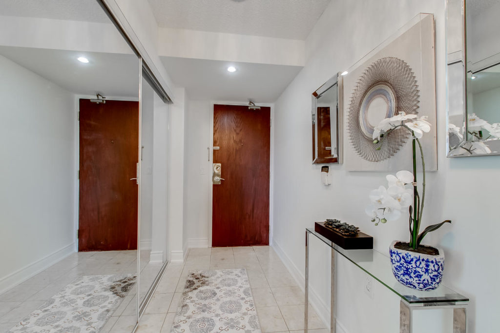 Front Door, 20 Olive Ave, Toronto Condo Staging