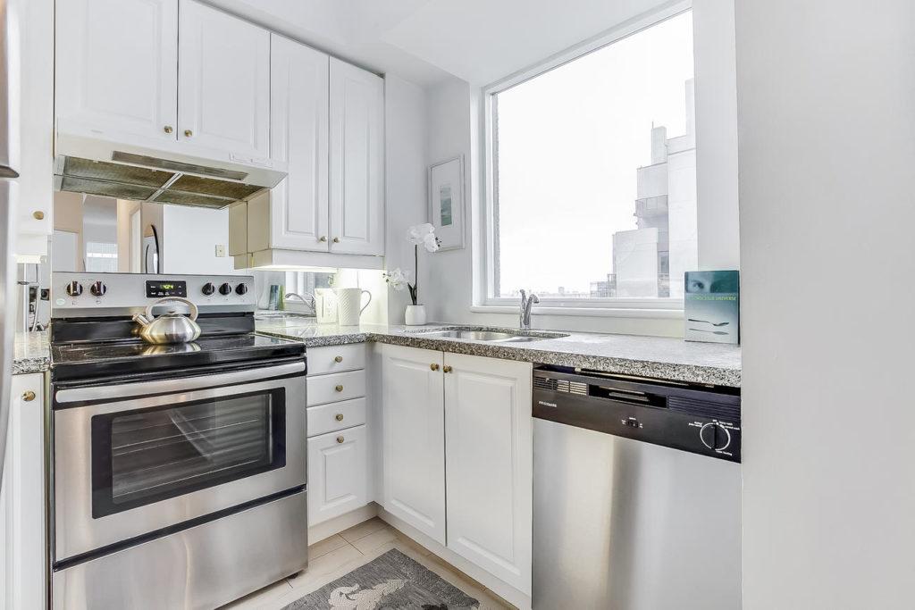 Kitchen Countertop, 55 Bloor, Toronto Condo Staging