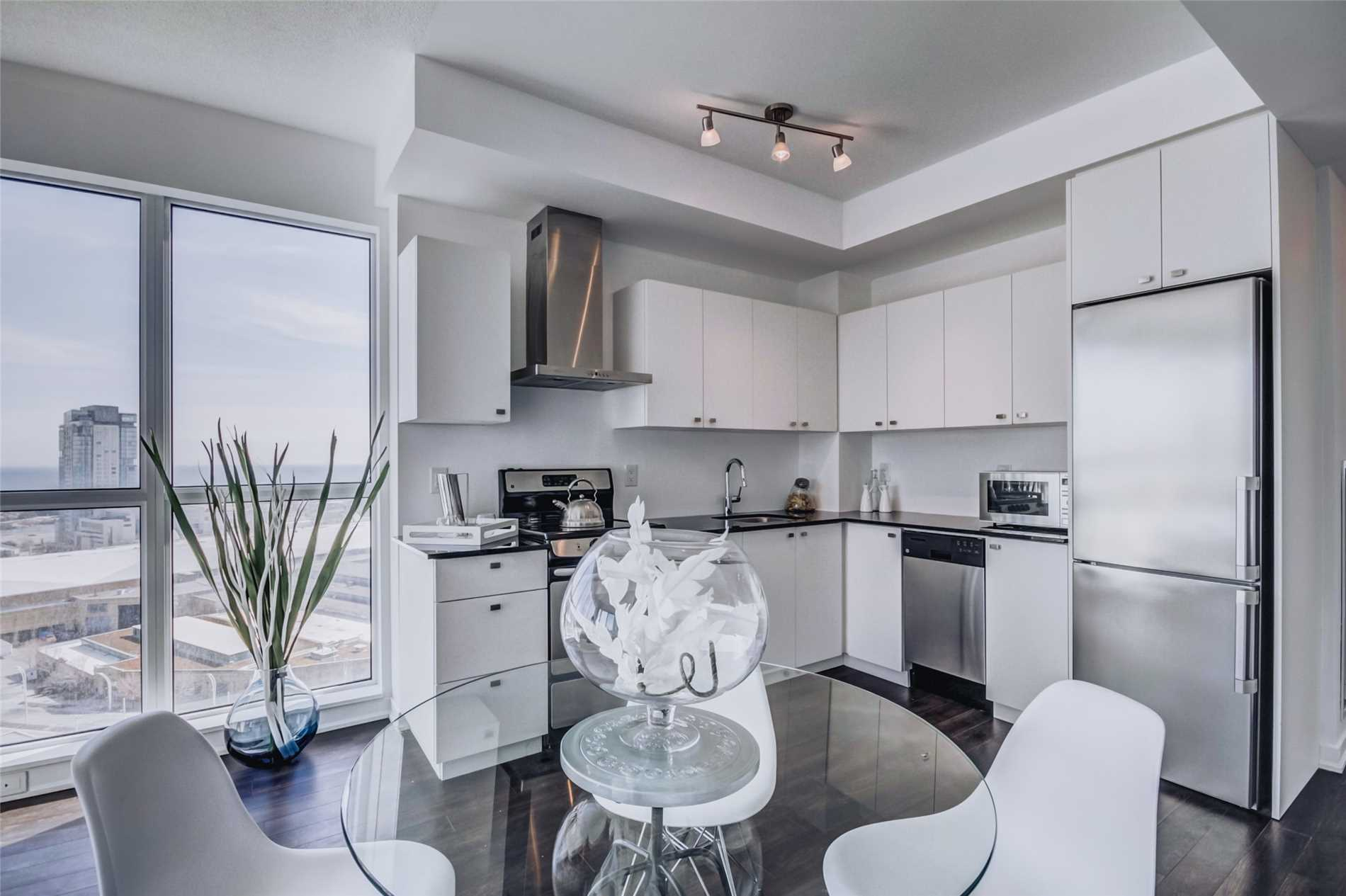 Kitchen and Dining Room, 51 East Liberty, Toronto Condo Staging