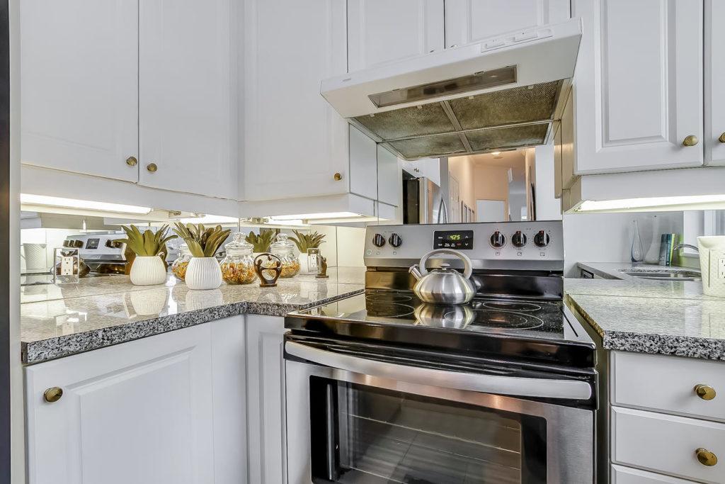 Kitchen Stove, 55 Bloor, Toronto Condo Staging