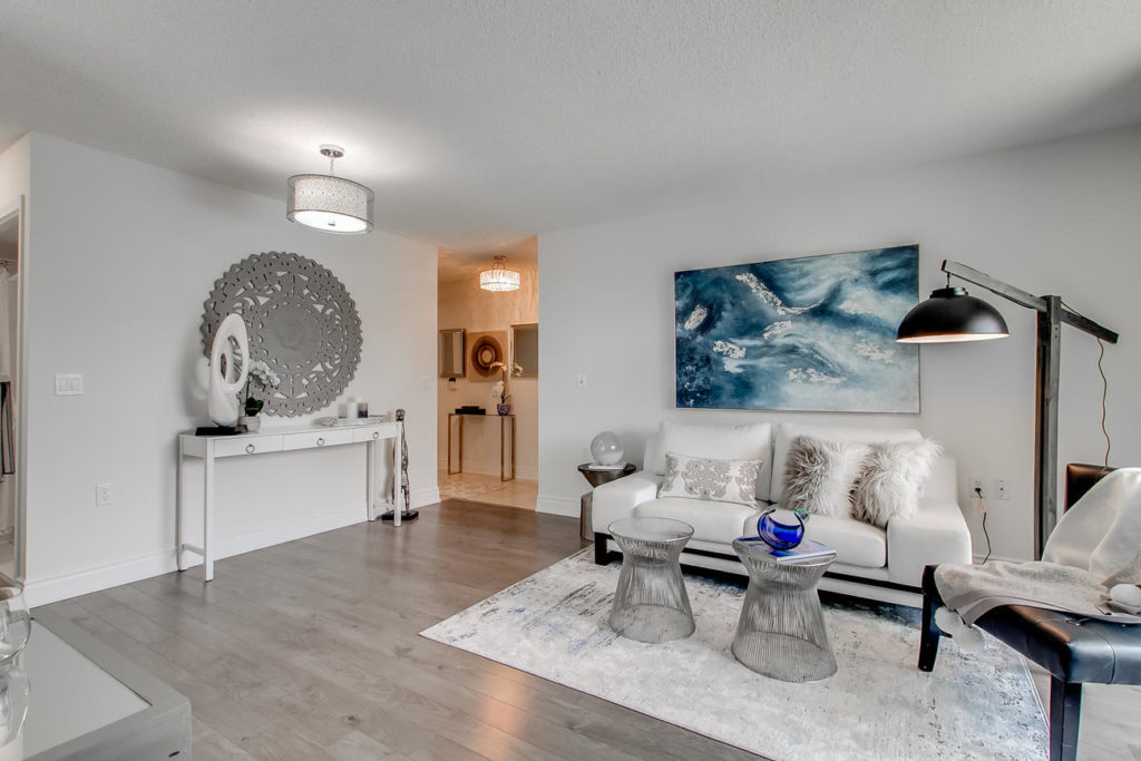 Living Area, 20 Olive Ave, Toronto Condo Staging