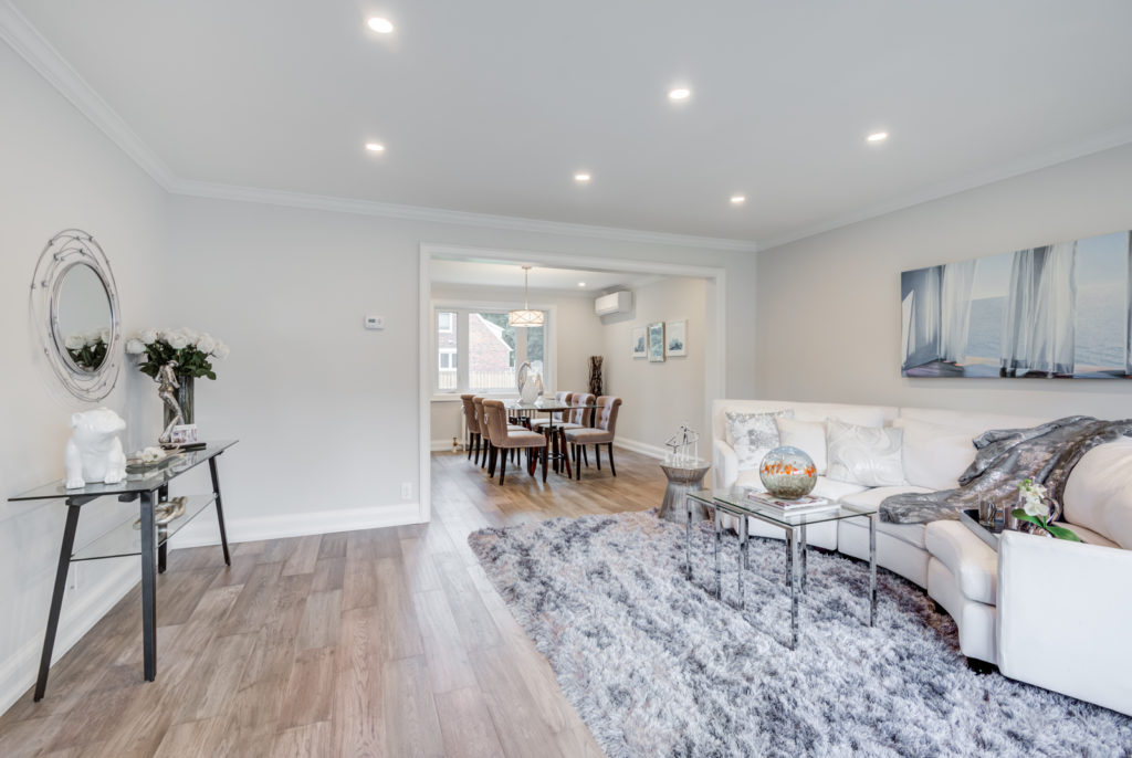 Living and Dining Room, 30 Parkview, North York Home Staging
