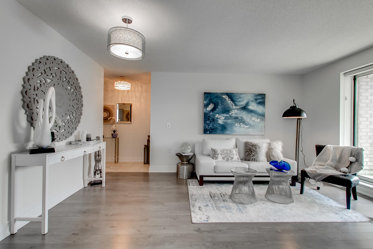 Living Room, 20 Olive Ave, Toronto Condo Staging
