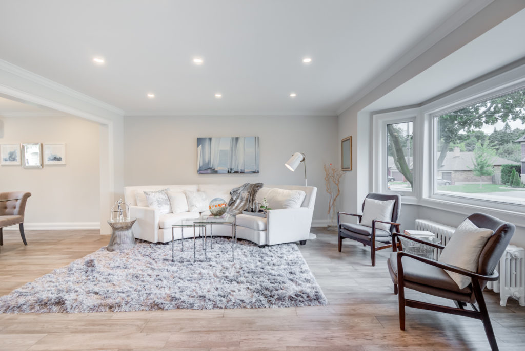 Living Room, 30 Parkview, North York Home Staging