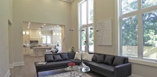 Living Room, 414 Samford, Oakville Home Staging