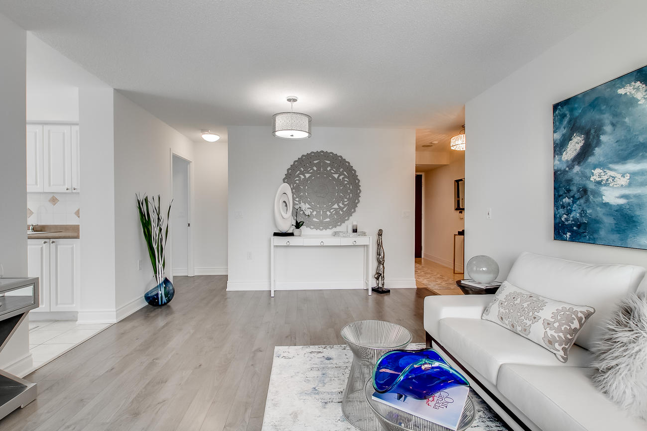 Living Space, 20 Olive Ave, Toronto Condo Staging